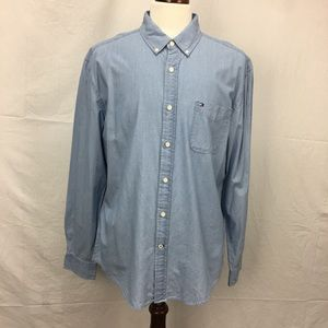 Tommy Hilfiger Light Wash Denim Button Down Shirt